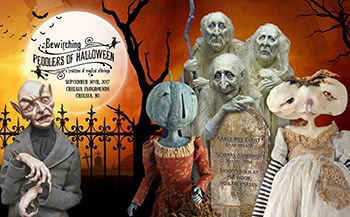 Bewitching Peddlers of Halloween 2017 Show postcard and poster